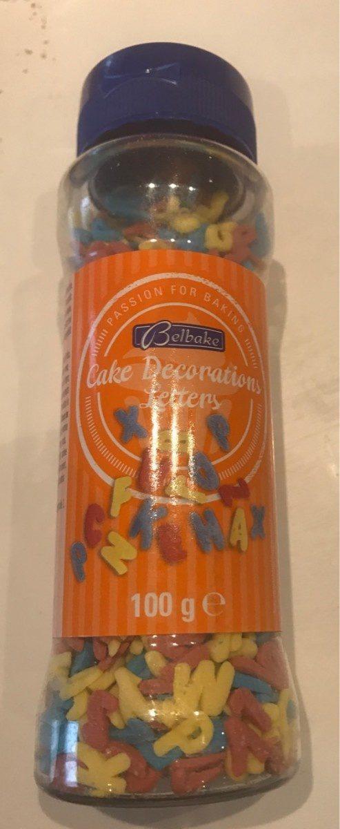 Kerst: Sugar Letters Busje 100 Gram (belbake) - Product