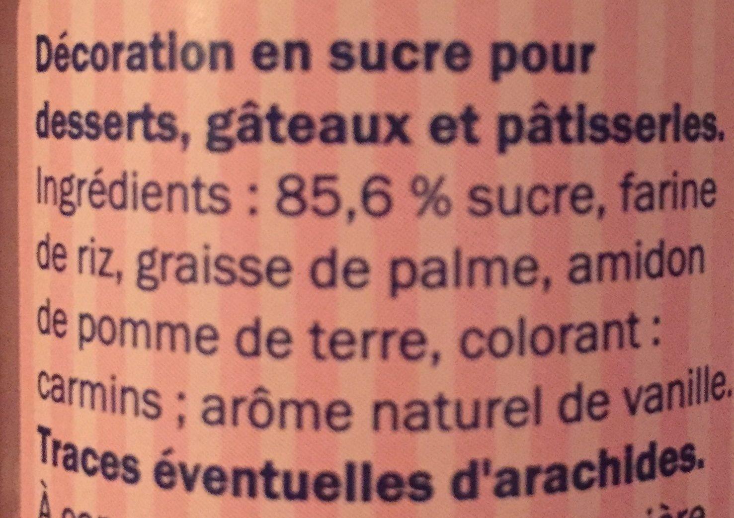 Cœur en Sucre - Ingredients - fr