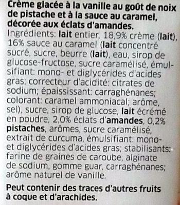 IJs Cubics Vanille-Pistache - Ingrédients - fr
