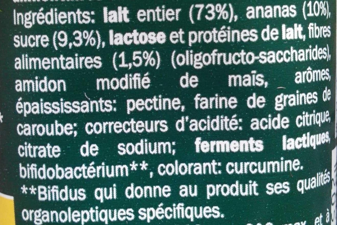 Bifidus Ananas (4 x) - Ingredients - fr