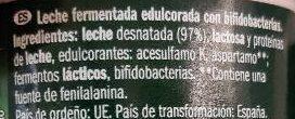 Bifidus edulcorado - Ingredients - es