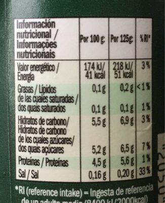 Bifidus edulcorado - Nutrition facts - es