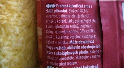 Roasted Corn (chilli)/Pražená kukuřice - Ingredients - cs