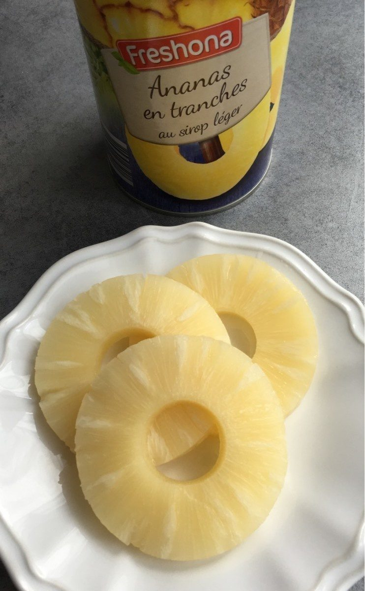 Ananas en tranches au sirop léger - Product