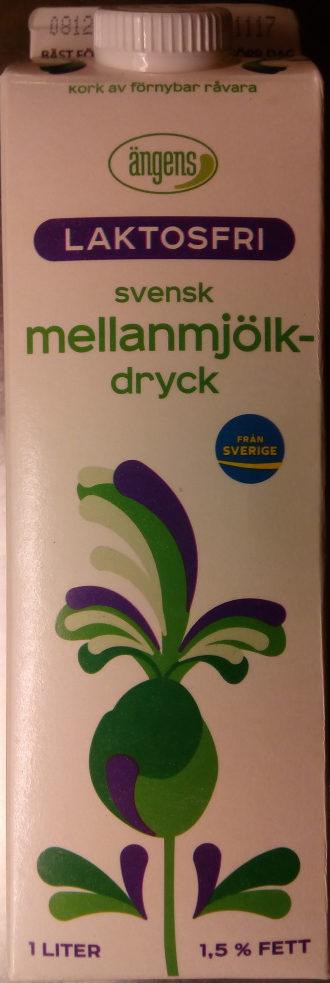 Ängens Laktosfri svensk mellanmjölkdryck - Product