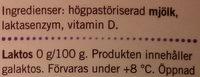 Ängens Laktosfri svensk mellanmjölkdryck - Ingrédients