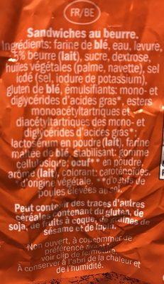 Sandwiches au beurre - Ingredients - fr