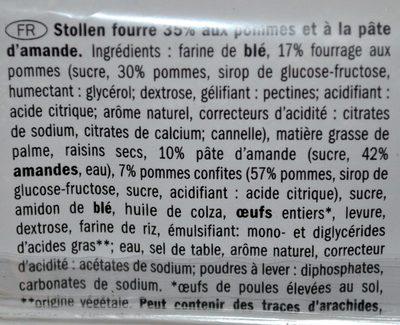 APPLE STOLLEN - Ingredients - fr
