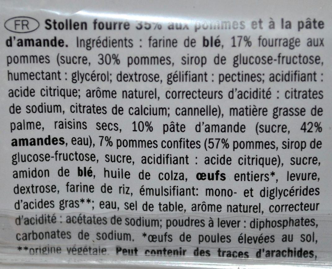 APPLE STOLLEN - Ingrédients