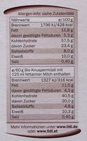 Bio Knuspermüsli Amaranth Schoko - Nutrition facts