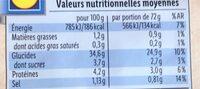 Bio pain complet de seigle - Informations nutritionnelles - fr