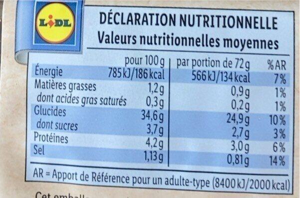 Pain de seigle complet BIO - Nutrition facts - fr