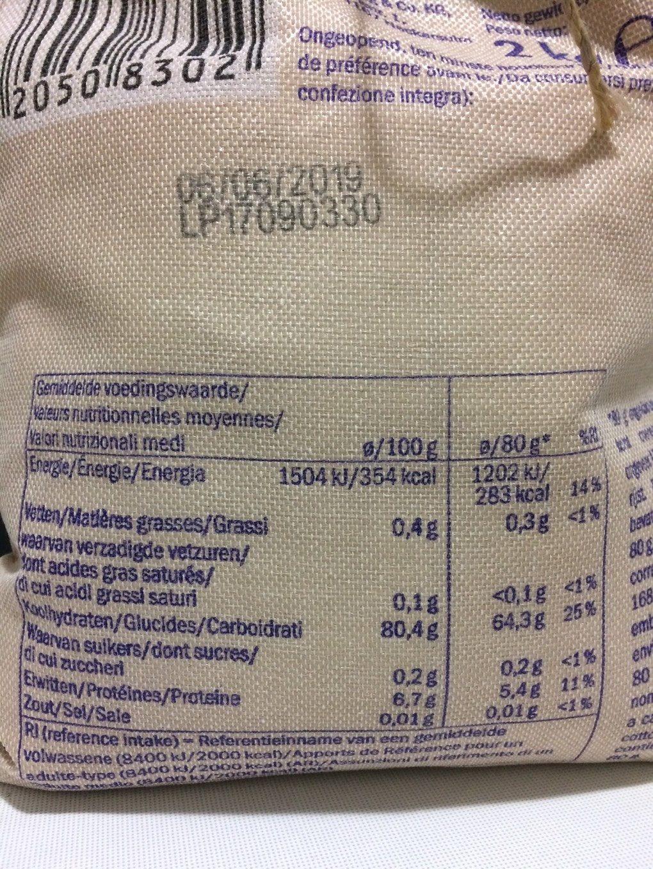 Riz Carnaroli - Voedingswaarden