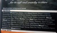 seeded wholemeal sliced bread - Ingrédients - fr