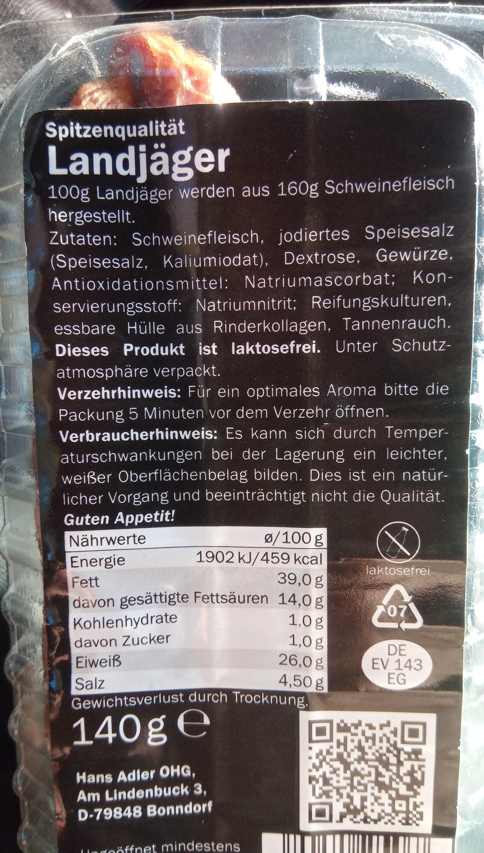 landjager - Product