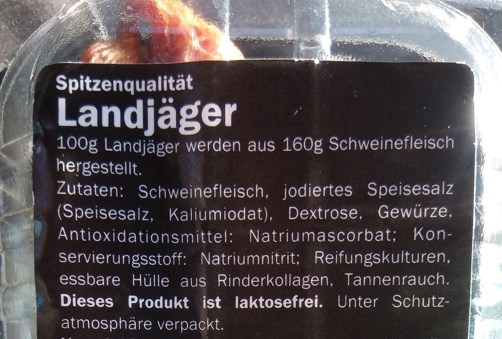 landjager - Ingredients