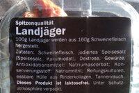 landjager - Inhaltsstoffe - de