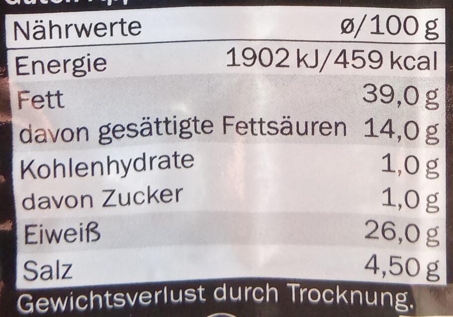 landjager - Nährwertangaben - de
