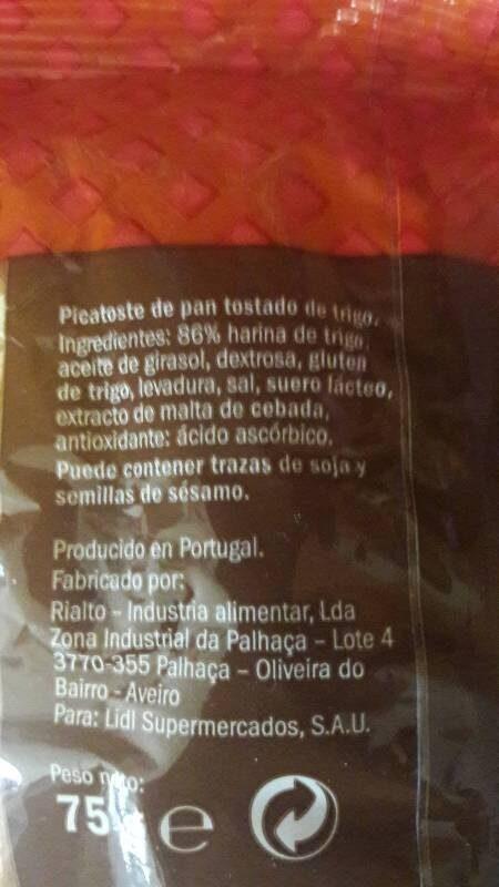 Picatostes tostados - Ingrédients