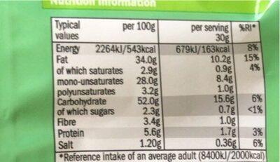 Potato sticks - Nutrition facts - en