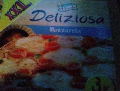 Pizza au four à pierre couvrir à la sauce de tomates - Produit - fr