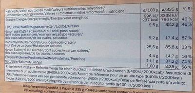 Trattoria Alfredo Deliziosa Mozzarella - Voedingswaarden - fr