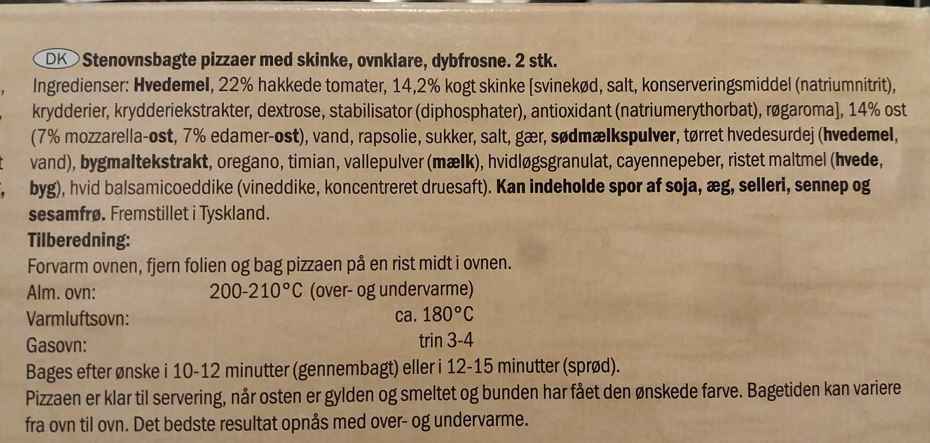 Deliziosa prosciutto - Ingredientes - en