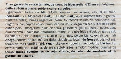 Pizza Deliziosa Tonno - Ingredients - fr