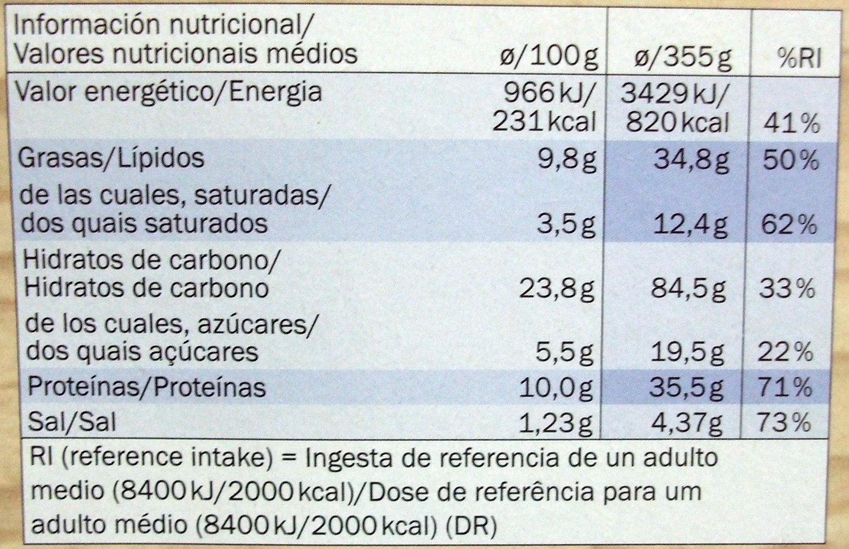 Cuite sur pierre Thon - Nutrition facts