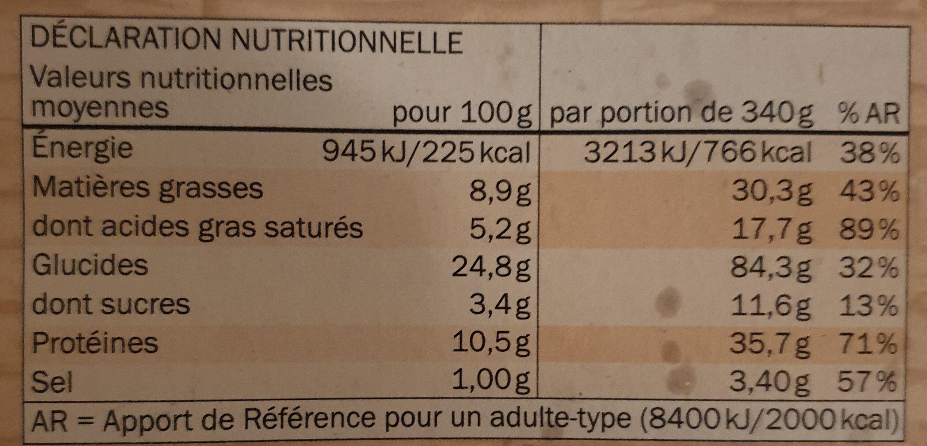 Deliziosa Quattro Formaggi - Informations nutritionnelles - fr