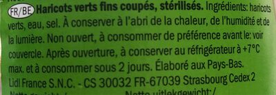 Haricots verts Freshona - Ingrediënten