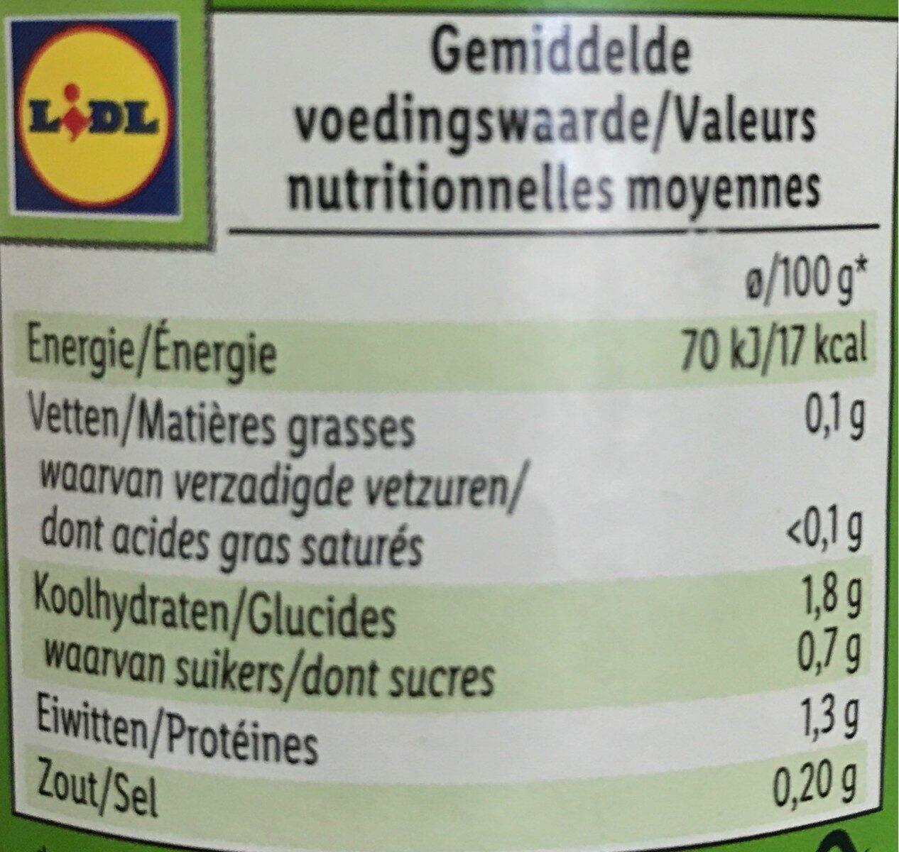 Haricots verts Freshona - Voedingswaarden - fr