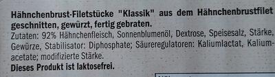 Hähnchenbrust Filetstücke Klassik - Ingrédients - de