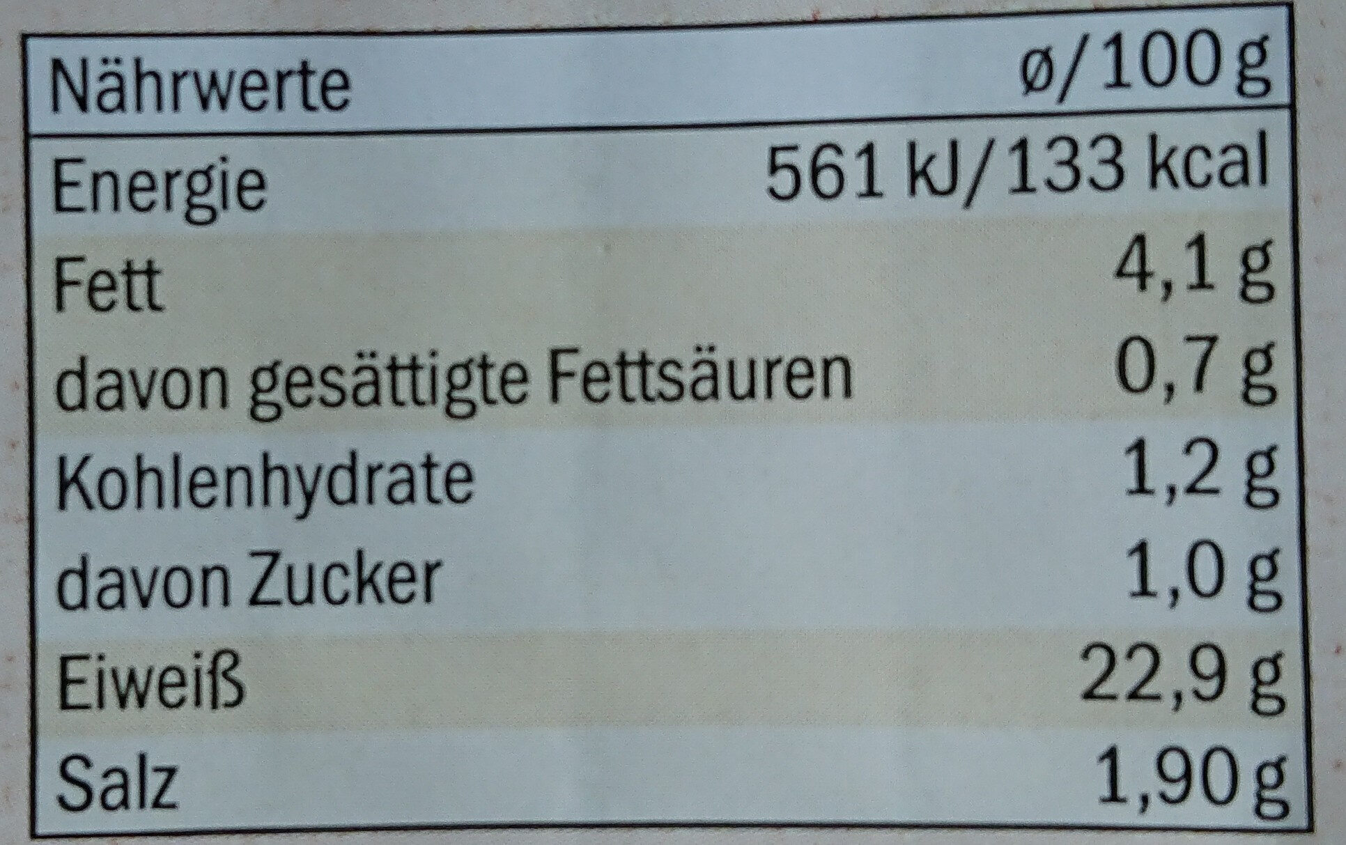 Hähnchenbrust Filetstücke Klassik - Informations nutritionnelles - de