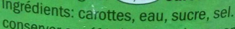Carottes extra fines - Ingrédients - fr