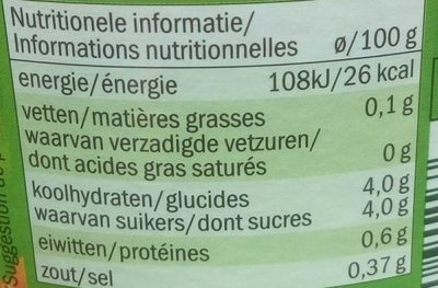 Carottes extra fines - Informations nutritionnelles - fr