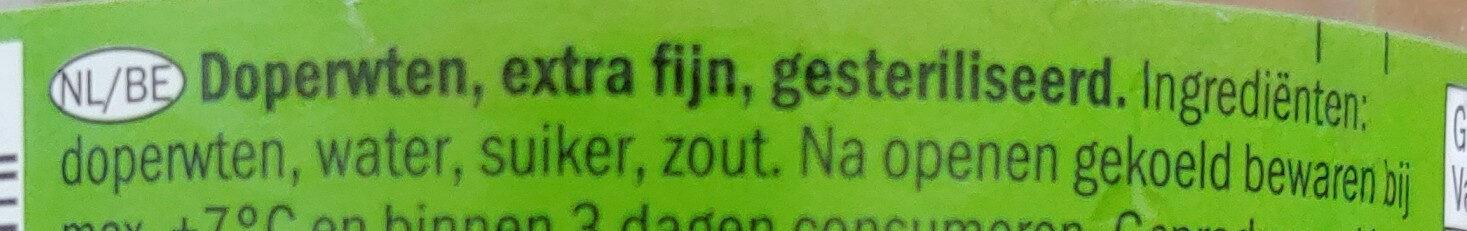Freshona doperwten - Ingredients - nl