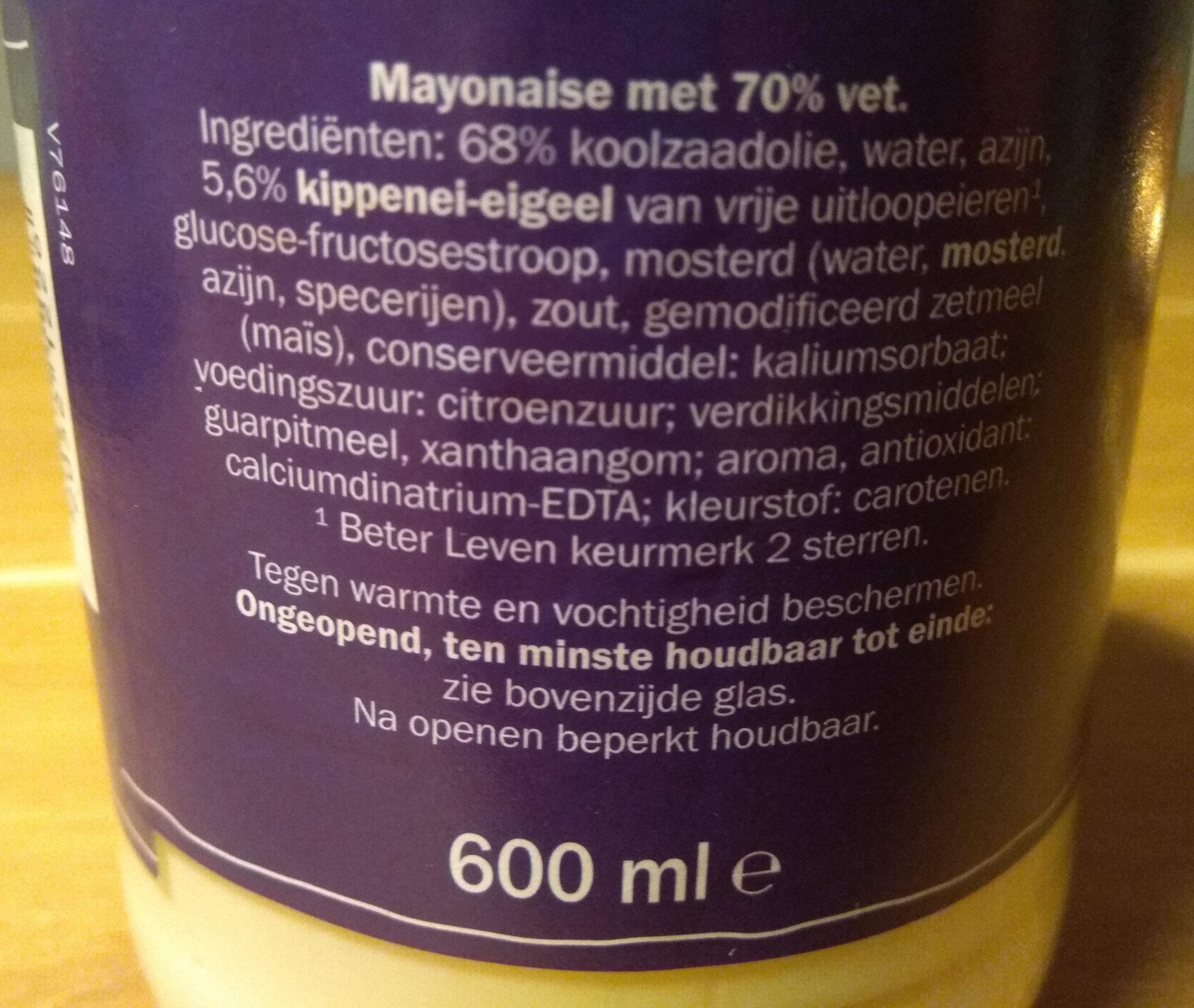 Vita D'or Mayonaise - Ingrediënten