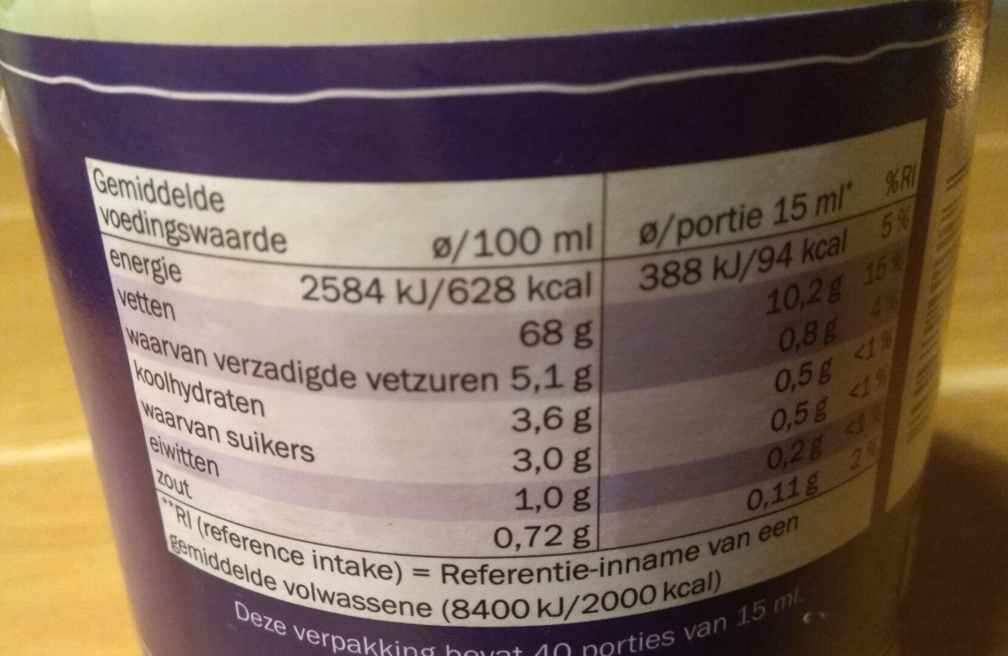 Vita D'or Mayonaise - Voedigswaarden