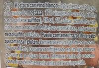 Mostaza Vino Blanco - Ingrédients
