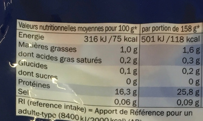 Filets de pangas - Nutrition facts - fr