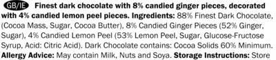 Chocolate negro con jengibre y limón 60% cacao - Ingredients - en