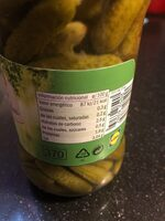 Pepinillos sabor anchoa - Informations nutritionnelles
