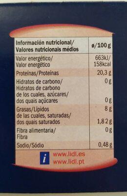 Sardinillas en salsa de tomate - Voedingswaarden - es