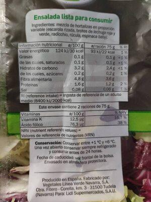 Deluxe - Ingredients - es