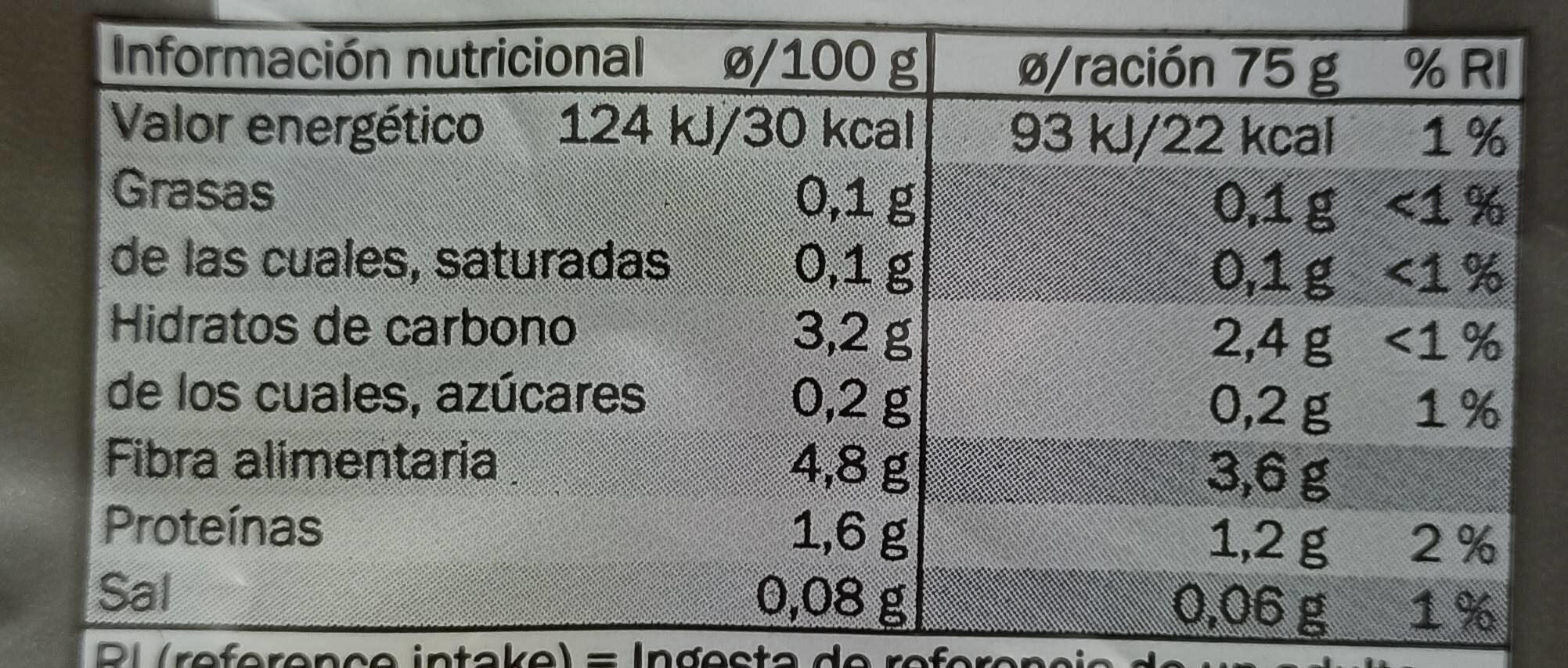 Deluxe - Informació nutricional - es