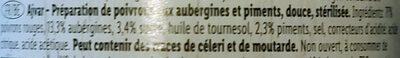 Ajvar - Ingrédients - fr
