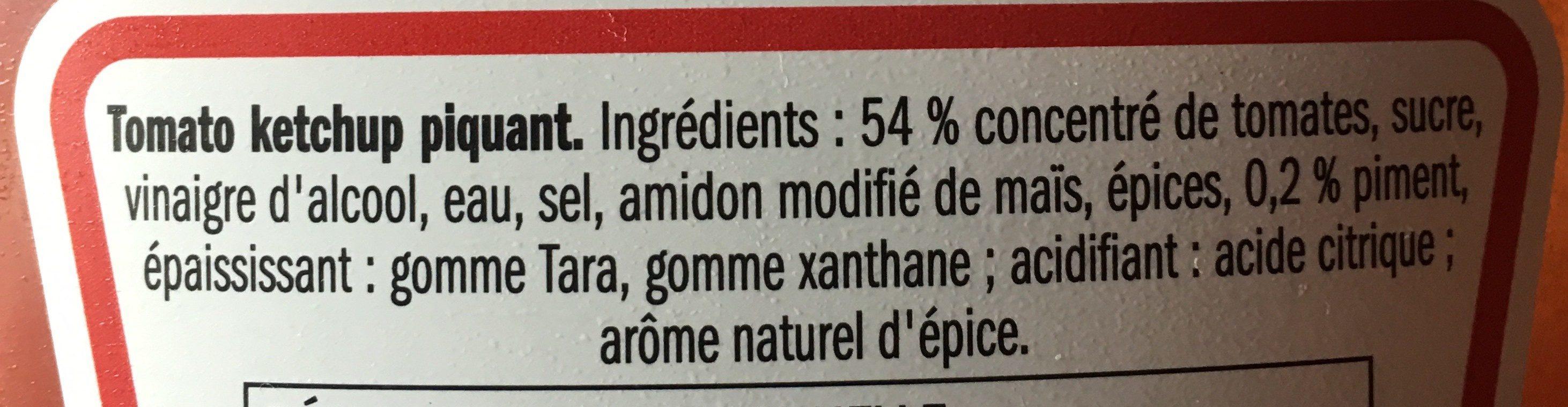 Hot ketchup - Ingredienti - fr