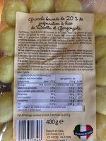 Gnocchi Ripieni Con Formaggi - Ingrediënten