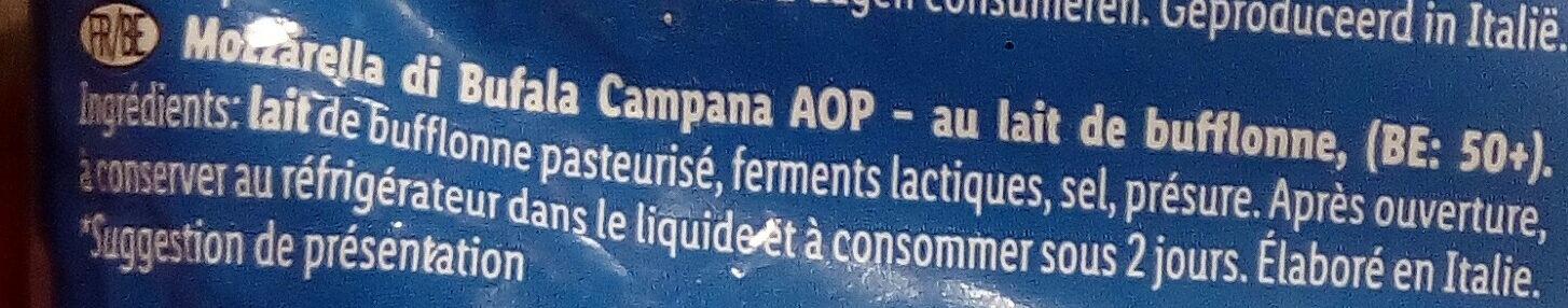 Lovilio Mozzarella di Bufala Campana DOP - Ingredientes - fr